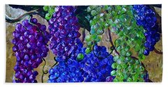 Hand Towel featuring the painting Festival Of Grapes by Eloise Schneider