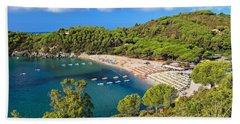 Fetovaia Beach - Elba Island Hand Towel by Antonio Scarpi