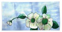 Field Flowers Bath Towel by Francine Heykoop