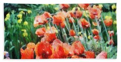 Field Of Flowers Bath Towel