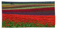 Field Of Tulips Bath Towel by Jordan Blackstone