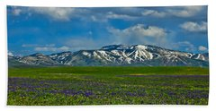 Field Of Wildflowers Hand Towel by Don Schwartz