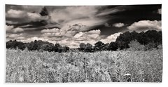 Bath Towel featuring the photograph Fields Of Gold And Clouds by Mitchell R Grosky