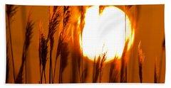 Fiery Grasses Hand Towel