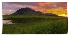 Fiery Sky Over Bear Butte Hand Towel