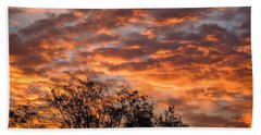 Fiery Sunrise Over County Clare Hand Towel