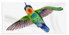 Fiery-throated Hummingbird Hand Towel