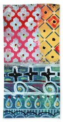 Fiesta 6- Colorful Pattern Painting Hand Towel