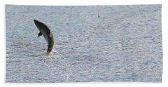 Fighting Chinook Salmon Bath Towel
