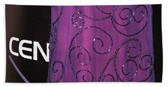 Fighting Sequins Horizontal Hand Towel by Heather Kirk