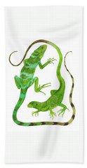 Fijian Iguanas Hand Towel