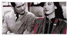 Film Homage Cary Grant Rosalind Russell Howard Hawks His Girl Friday 1940-2008 Hand Towel