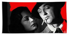 Film Noir Jane Greer Robert Mitchum Out Of The Past 1947 Rko Color Added 2012 Hand Towel