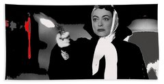 Film Noir Joan Crawford Jack Palance Sudden Fear 1952 Rko Publicity Photo Color Added 2012 Hand Towel