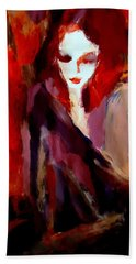 Hand Towel featuring the painting Finesse by Helena Wierzbicki