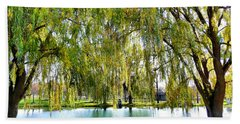 Finger Lakes Weeping Willows Bath Towel by Mitchell R Grosky