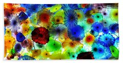 Fiori Di Como By Glass Sculptor Hand Towel by Gandz Photography