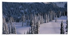 Fir Trees, Mount Rainier National Park Bath Towel