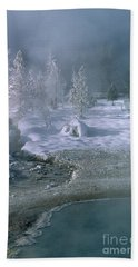 Fire And Ice - Yellowstone National Park Bath Towel