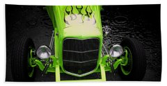 Hot Rod Hand Towel featuring the photograph Fire And Water Green Version by Aaron Berg