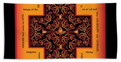Fire Dragon Celtic Cross Hand Towel