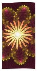 Fire Flower Mandala Bath Towel