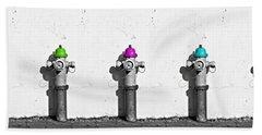 Fire Hydrants Bath Towel