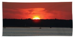 Bath Towel featuring the photograph Fire In The Sky by Karen Silvestri