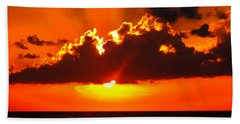 Hand Towel featuring the photograph Fire In The Sky by Patti Whitten