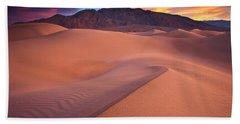 Fire On Mesquite Dunes Bath Towel