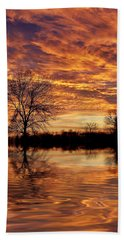 Fire Painters In The Sky Bath Towel