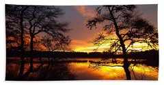 Sunrise Fire Hand Towel by Dianne Cowen