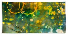 Fireflies Encaustic Bath Towel