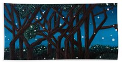 Fireflies Bath Towel by Cheryl Bailey