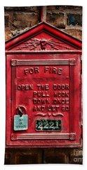 Fireman - Fire Alarm Box - Out Of Service Bath Towel