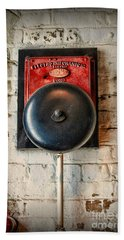 Fireman - Vintage Fire Bell Bath Towel