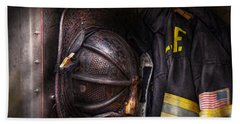 Fireman - Worn And Used Bath Towel