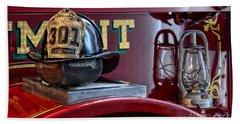 Firemen - Fire Helmet Lieutenant Bath Towel