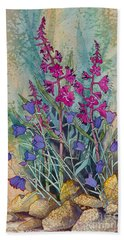 Fireweed And Bluebells Bath Towel