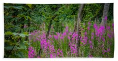 Hand Towel featuring the photograph Fireweed In The Irish Countryside by James Truett