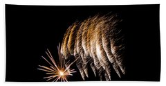 Hand Towel featuring the photograph Fireworks 1 by Susan  McMenamin