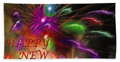 Fireworks - Happy New Year Hand Towel