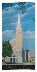 First Congregational Church Bath Towel by Norm Starks