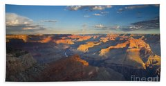 First Light On The Colorado Hand Towel by Mike  Dawson