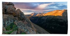 First Light On The Mountain Hand Towel by Ronda Kimbrow