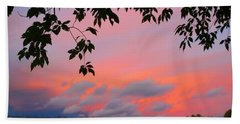 Hand Towel featuring the photograph First October Sunset by Kathryn Meyer