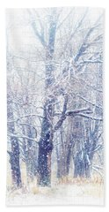 First Snow. Dreamy Wonderland Hand Towel
