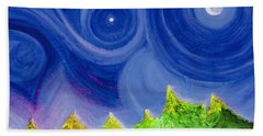 Bath Towel featuring the painting First Star By  Jrr by First Star Art