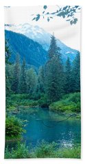 Fish Creek In Tongass National Forest By Hyder-ak  Hand Towel