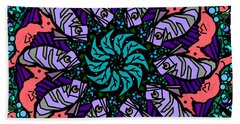 Bath Towel featuring the digital art Fish / Seahorse by Elizabeth McTaggart